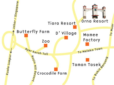 Orna Location Map